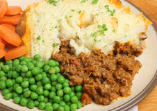 Shepherds Pie Dinner Royalty Free Stock Images