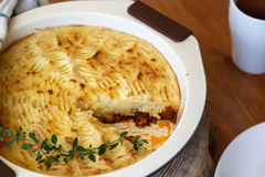 Shepherds pie with missing piece Royalty Free Stock Photo