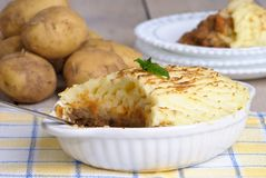 Shepherds Pie Table Royalty Free Stock Photos