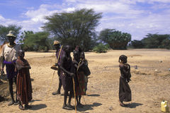 Shepherds Turkana (Kenya) Royalty Free Stock Image