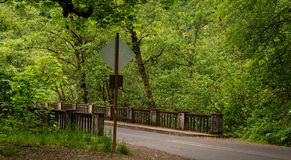 Shepperds Dell. Bridge on the Historic Columbia River Highway in Multnomah County, Oregon Stock Image