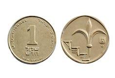 sheqel 2 монетки Стоковое Фото