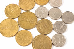 Sheqel coins Stock Photos