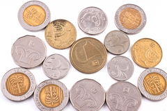 Sheqel coins Stock Photo