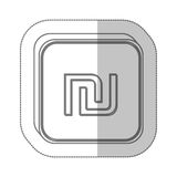 Sheqel israel currency symbol icon Stock Images