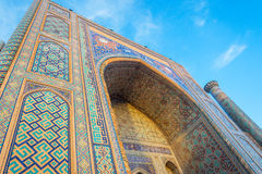 Sher Dor madrasah, Registan, Samarkand, Uzbekistan Stock Images