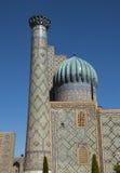 Sher-Dor Madrasah in Registan square Royalty Free Stock Image