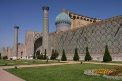 Sher-Dor Madrasah at Registan square, Samarkand, Royalty Free Stock Photography