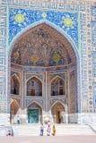 Sher-Dor Madrasah, Samarkand Registan, Uzbekistan Royalty Free Stock Photos