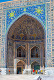 Sher-Dor Madrasah, Samarkand Registan, Uzbekistan Stock Photography