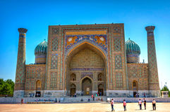 Sher-Dor Madrasah, Samarkand Registan, Uzbekistan Royalty Free Stock Photography