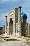 Sher-dor Madrassah. Registan Ensemble in Samarkand Stock Photography