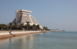 Sheraton旅馆在多哈。 Qata 库存图片