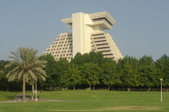 Sheraton. The iconic Sheraton Hotel in Doha, Qatar Royalty Free Stock Images