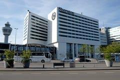 Sheraton Hotel dans l'aéroport de Schiphol Photo libre de droits
