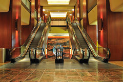Sheraton Hotel Interiors. A view of the escalators and the beautiful interiors at the Sheraton Hotel convention center Stock Photo