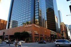 Sheraton Hotel & Macy's Shopping Mall. The Hotel of Sheraton and the shopping Mall of Macy's in the downtown area of LA, CA Royalty Free Stock Image