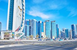 Sheraton intersection, Doha, Qatar Royalty Free Stock Photo