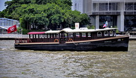 Sheraton shuttle boat on Chao Phraya river Royalty Free Stock Image
