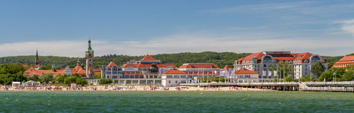 Sheraton Sopot Hotel and beach Royalty Free Stock Images