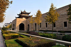 Sheraton Suzhou Hotel. The hotel entrance is modeled on the famous Panmen Gate and the entire building is an architectural masterpiece which reflects the Royalty Free Stock Photos