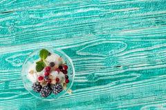 Sherbet γυαλί με το παγωτό Στοκ Φωτογραφία