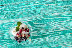 sherbet glass with ice cream Stock Photography