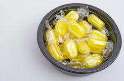 Sherbet sweets in a black bowl. Stock Image