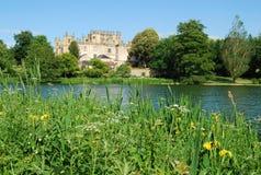 Sherborne Castle, Dorset. View across lake of Sherborne Castle, Dorset Royalty Free Stock Image