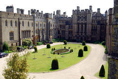 Sherborne Castle, Dorset. View of courtyard at Sherborne Castle, Dorset Stock Images