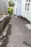 Sherborne Lane, Lyme Regis 2. Steep walkway in Lyme Regis, Dorset, England, United Kingdom Stock Image