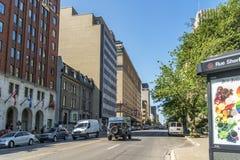 Sherbrooke ulica zachodnia obrazy royalty free