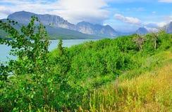 Sherburne lake in Glacier National Park Royalty Free Stock Images