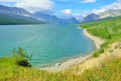 Sherburne lake in Glacier National Park Stock Photo