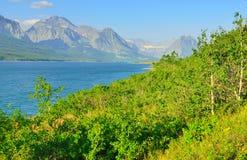 Sherburne lake in Glacier National Park Stock Photography