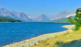 Sherburne lake in Glacier National Park Stock Images