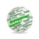 Le développement durable nomme la sphère (française) photo stock
