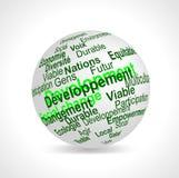 O desenvolvimento sustentável denomina a esfera (francesa) Fotos de Stock Royalty Free