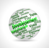 Sustainable Development terms sphere (french) Royalty Free Stock Photos