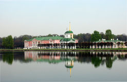 Sheremetev家庭的庄园在Kuskovo 库存图片