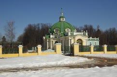 Sheremetev家庭的Kuskovo庄园在莫斯科,俄罗斯 库存照片