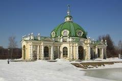Sheremetev家庭的Kuskovo庄园在莫斯科,俄罗斯 免版税图库摄影