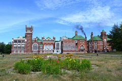 Sheremetyev castle - main building and outbuildings Royalty Free Stock Images