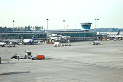 Sheremetyevo airport. Airfield Royalty Free Stock Images
