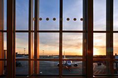 Sheremetyevo internationell flygplats royaltyfria bilder