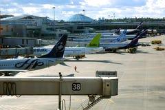 Sheremetyevo internationell flygplats IATA: SVO ICAO: UUEE är en internationell flygplats som lokaliseras i Khimki, Moskva Oblast royaltyfri fotografi
