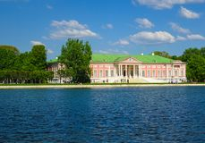 Sheremetyevs宫殿在Kuskovo公园 免版税库存图片