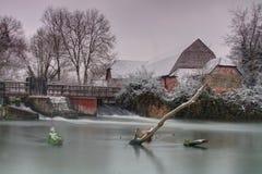 Sherfield på Loddon efter snöfall Royaltyfria Bilder