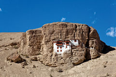Shergul-Kloster nahe Mulbek, Kargil, Ladakh, Jammu und Kashmir, Indien Lizenzfreies Stockbild
