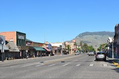 Sheridan Avenue in Cody, Wyoming Stock Photo